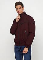 Мужская демисезонная куртка Danstar K-180k (50) бордовая