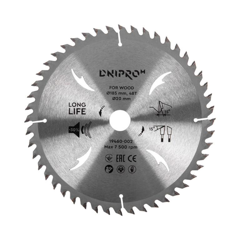 Пильный диск Dnipro-M 185 20/16 48Т