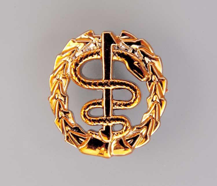 Емблема медичної і ветеринарної служби (золотиста) Старого зразка