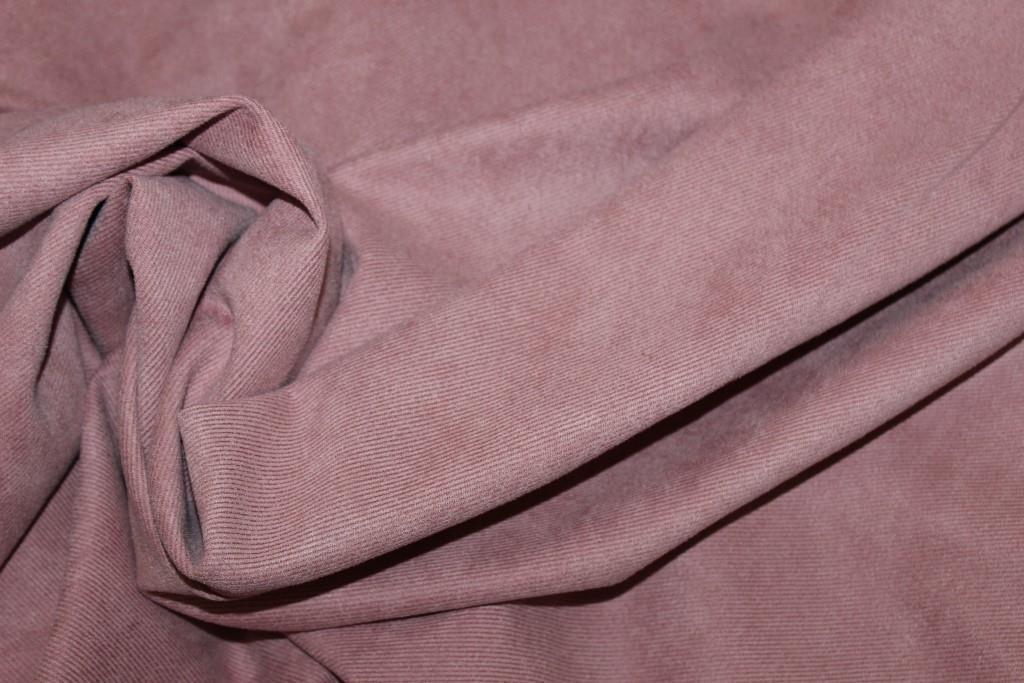 Ткань замш диагональ. цвет пудра №523, фото 1