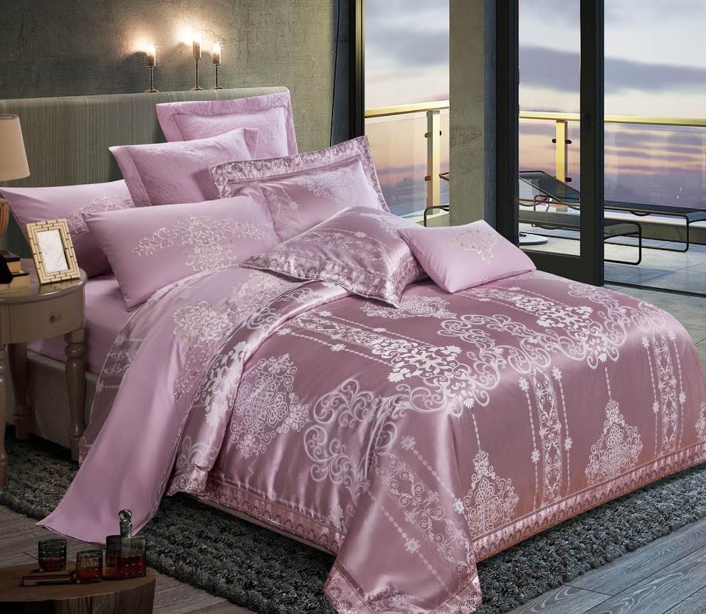 КПБ двуспальный ЕВРО сатин (пододеяльник, 2 наволочки, простынь) ТМ Руно 845.137АЖ Розовый