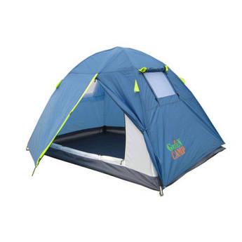 Палатка 2-х местная GreenCamp 1001-B, синий.
