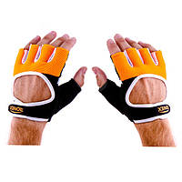 Перчатки вело,фитнес Ronex NapSweetForway (вырез) р.L оранж-черные..