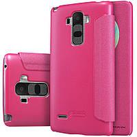 Шкіряний чохол книжка Nillkin Sparkle для LG G4 Stylus рожевий, фото 1
