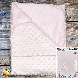 Плед с велюром с обеих сторон (розовый) Размер: 75х 85 см (8913-3)