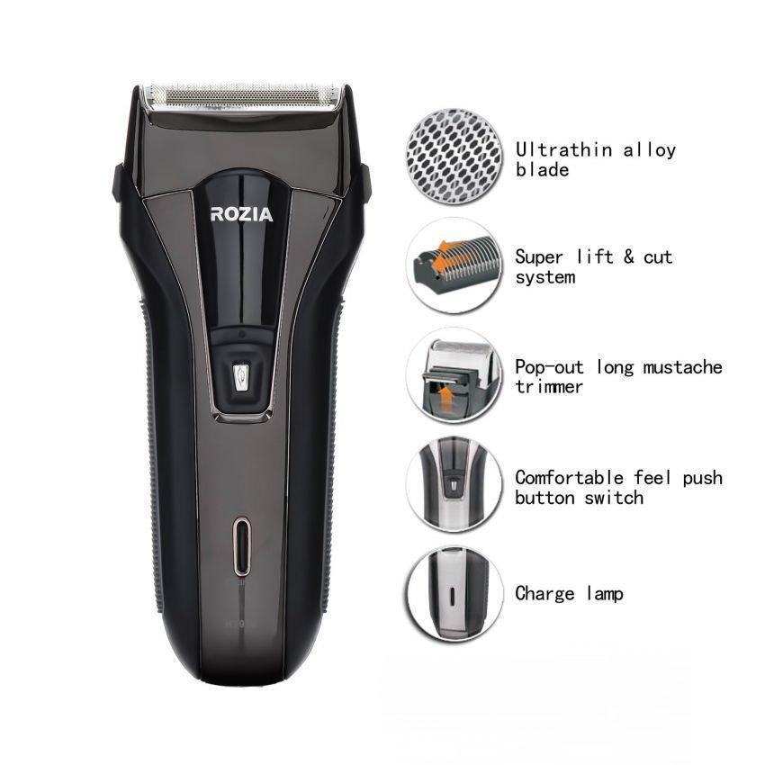 Електробритва Rozia HT-950 з 2 бритвеними головками, бритва на акумуляторі