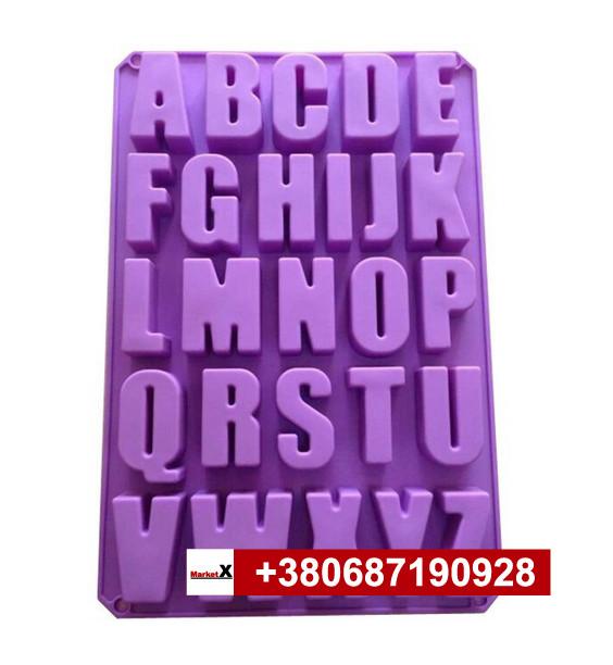 Пищевая силиконовая форма алфавит английский, буквы английские