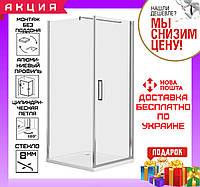 Душевая кабинка квадратная 90x90 см дверь распашная Eger Rudas 599-001 R с поддоном