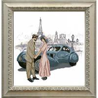 """""""Встреча в Париже"""" Панорамная вышивка. Набор для вышивания нитками"""