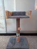 Когтєточка ( дряпка) для котів з диваном, (джут), 30*33*50 см, ТМ Пухнастик