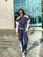 Женский спортивный костюм из плащевки матовой с олимпийкой на молнии 63rt719