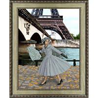 """""""Опять в Париже листопад"""" Панорамная вышивка. Набор для вышивания нитками"""