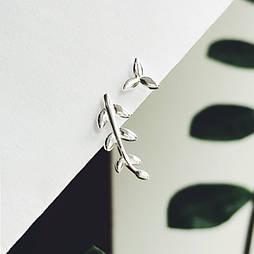"""Серебряные серьги """"Прикосновение природы"""""""
