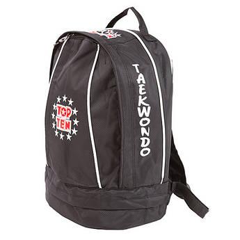Рюкзак спортивный Top10, черный,  таеквондо, 41*33 см