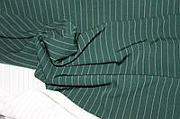 Ткань костюмная полоса, бутылка  № 403 (осень не плотная, не стрейч), фото 1