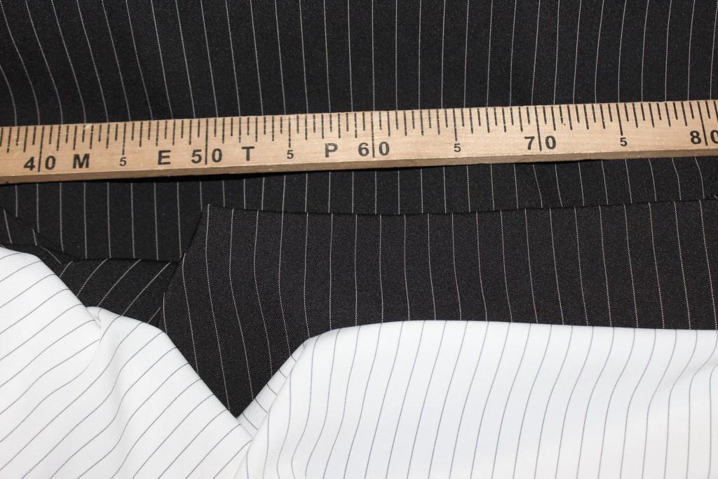 Ткань костюмная полоса, черный № 405 (осень не плотная, не стрейч), фото 1