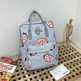 Сумка-рюкзак с клубничкой