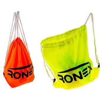 Сумка-рюкзак Ronex  оранжевый/салатный