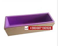 Пищевая силиконовая форма прямоугольная в деревянном каркасе 1200г