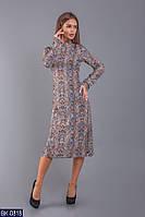 Платье длины миди с бантом сзади арт 1305