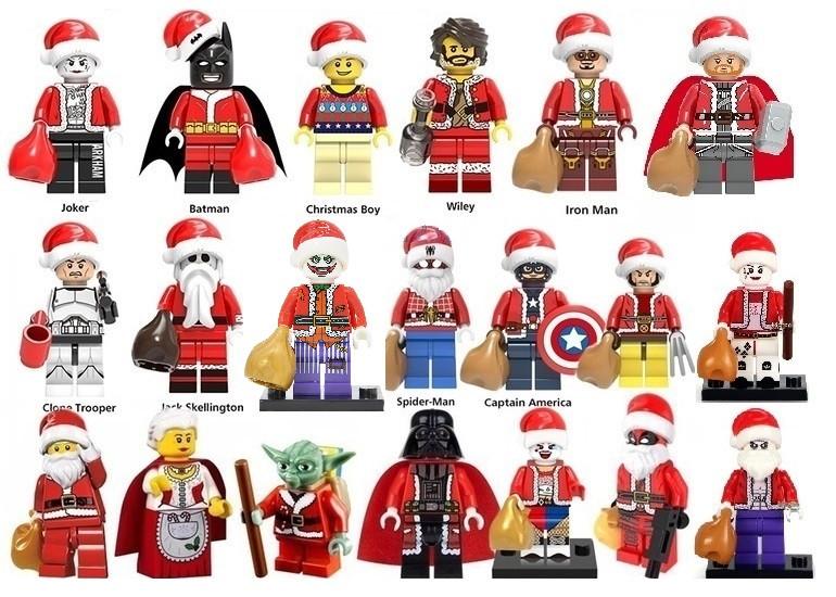 Фигурки Новый год рождество лего Lego Дед мороз Дарт вейдер Бэтмен