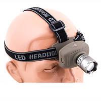 Фонарь на голову 3W, LED, BL8601