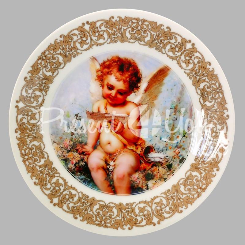 Тарелка декоративная 'Ангел', 19 см.