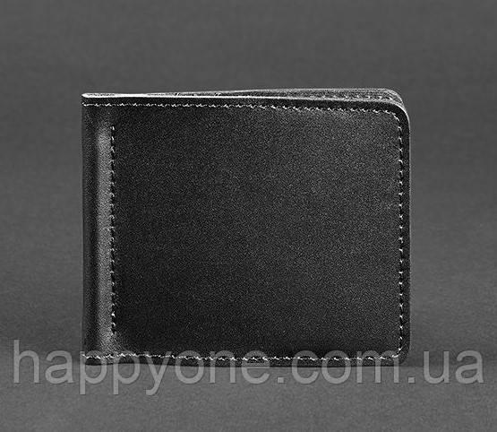 Кожаный зажим для денег 1.0 (кожа krast) черный