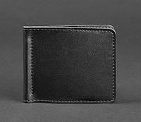 Кожаный зажим для денег 1.0 (кожа krast) черный, фото 1