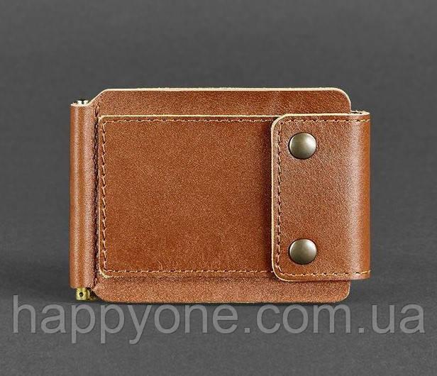 Кожаный зажим для денег 10.0 (светло-коричневый)