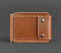 Кожаный зажим для денег 10.0 (светло-коричневый), фото 1