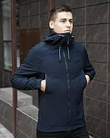 Куртка мужская Pobedov Soft Shell темно-синяя
