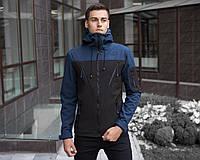 "Куртка мужская с капюшоном Pobedov Jacket ""Korol' Lev"" Navy-Black"