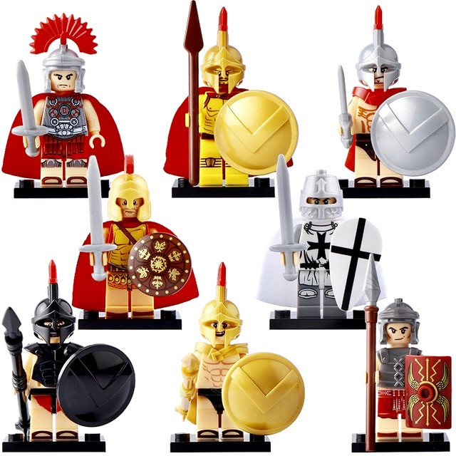 Фигурки гладиаторы Gladiator легионер legionér лего Lego рыцари
