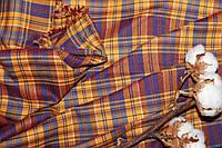 Ткань костюмная плательная клетка, натуральные волокна, слабый стрейч (5%эластана) №308, фото 1