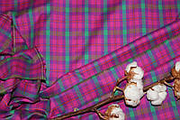 Ткань костюмная плательная клетка, натуральные волокна, слабый стрейч (5%эластана) №306, фото 1
