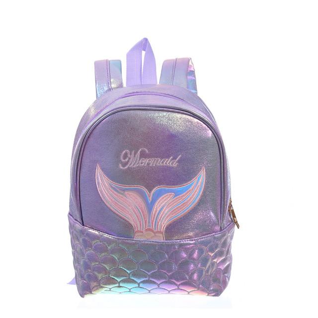 Прогулочный рюкзак хвост русалочки фиолетовый