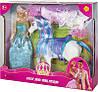 Кукла Defa с лошадью и аксессуарами 8209