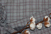 Ткань костюмная плательная клетка, натуральные волокна, слабый стрейч (5%эластана) №303, фото 1