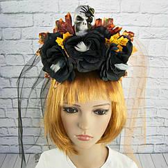 Украшение для волос Хэллоуин люкс с двойной фатой