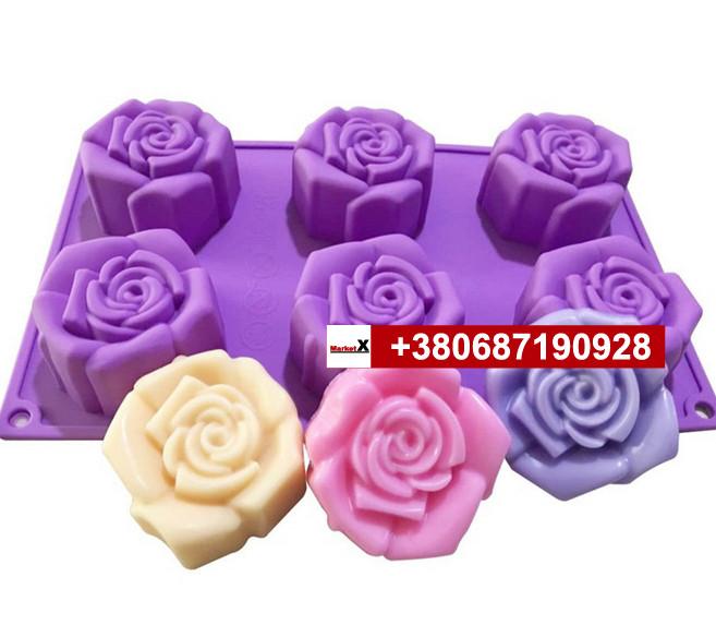 Пищевая силиконовая форма розы