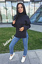 Женский свободный свитер с высокой горловиной и разрезами по бокам 7ddet554, фото 3