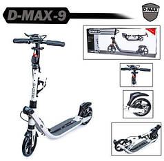 Двухколесный самокат Scale Sports. D-Max-9. White. Дисковый тормоз!