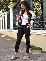 Женский спортивный костюм с укороченными штанами и кофтой на молнии 50spt720