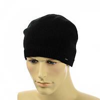 Мужская шапка на флисе Interlok черный