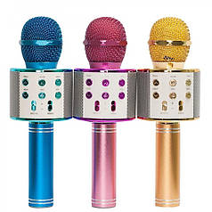 Беспроводной микрофон караоке WSTER WS-858. Микс цветов