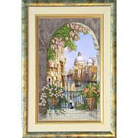 """""""Венецианская сказка 1"""" панорамная вышивка. Набор для вышивания нитками"""
