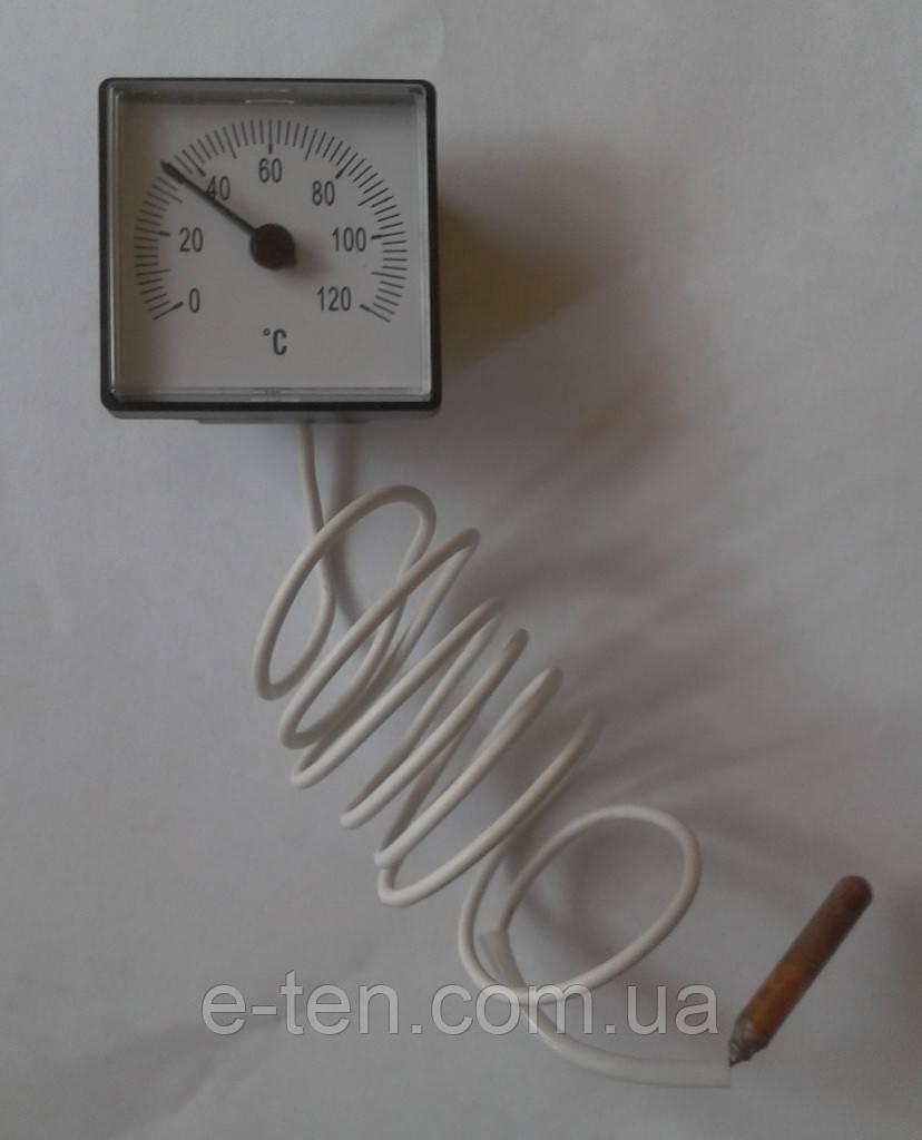Термометр квадратный капиллярный (45мм*45мм)  Tmax=120°С / длина капилляра L=1м        Украина
