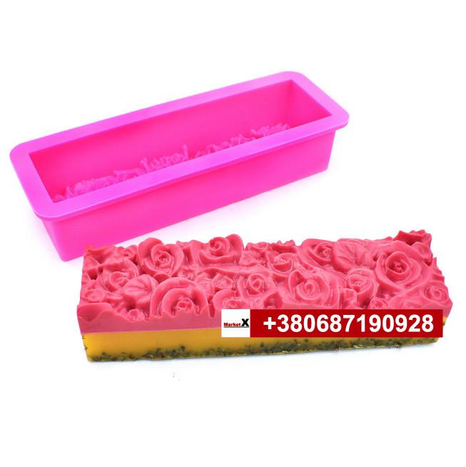Пищевая силиконовая форма плотная под нарезку, цветы