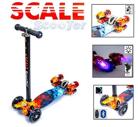 "Самокат Scooter ""Ракета"" с турбинами. Огонь и лед., фото 2"